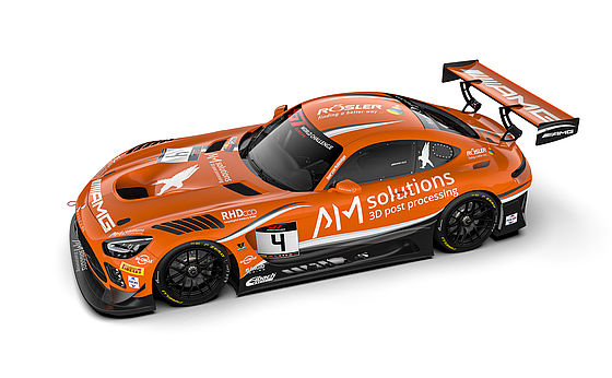 AM Solutions Mercedes AMG GT3 from Black Falcon.