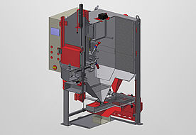 Sectional drawing of a RWT1000 swing table machine