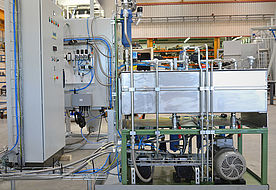 Solvent preparation of solvent spray installation