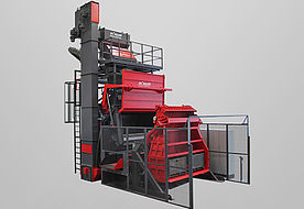 Tumble belt blast machine RMBC 10.3 for processing bulk material for automatic parts handling
