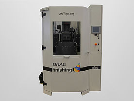 Drag finishing machines